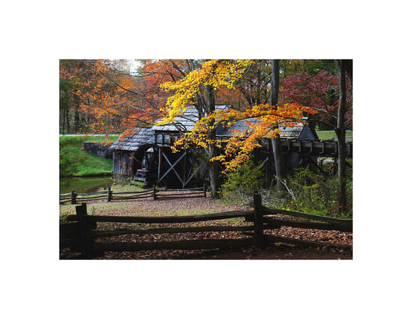 Autumn at Mabry Mill